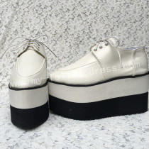 Sticky Toe Matte White Lolita High Platform Shoes