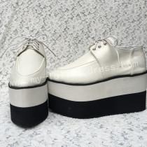 Sticky Toe Matte White Lolita High Platform Shoes