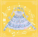 The Wonderland Quartet~ Sweet Lolita Printed JSK -Ready Made