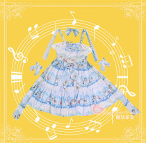 The Wonderland Quartet~ Sweet Lolita Printed JSK -Ready Made