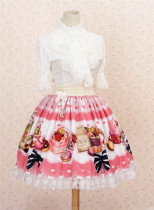 British Afternoon Tea -Sweet Pink Lolita Princess Skirt