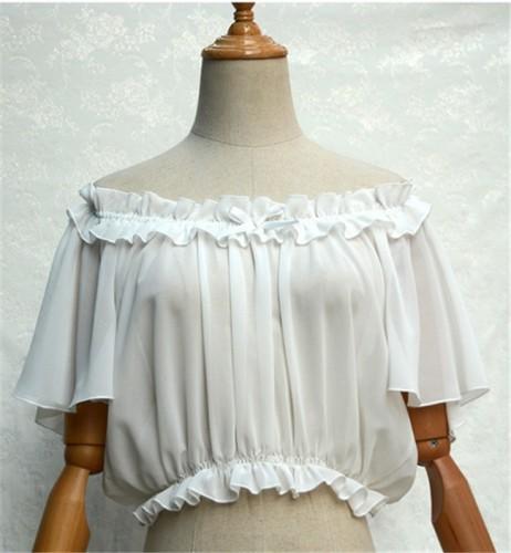 Sweet Chiffon Tailored Short Version Lolita Blouse