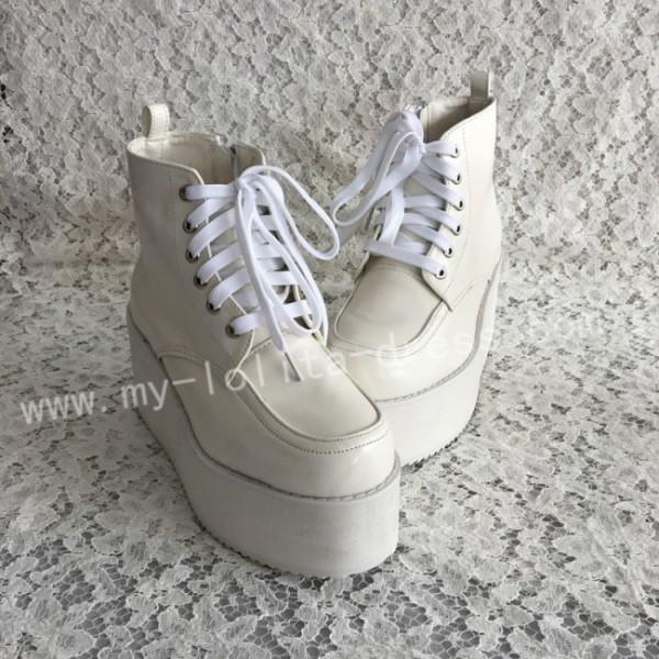 Sweet Matte White Lolita High Platform