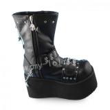 Black Gothic Gorgeous Lolita Boots
