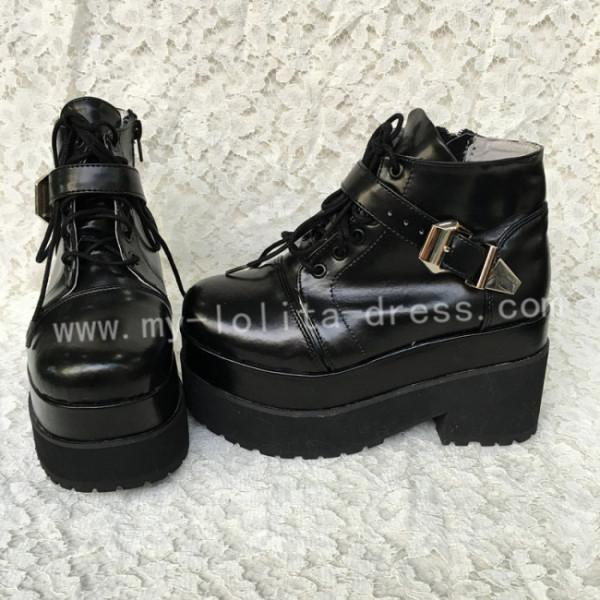 Sweet Black Lolita Heels Shoes with Platform