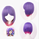 Sweet Purple Deep Pink Lolita Short Wig off
