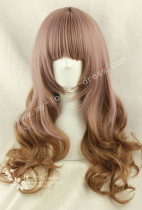 65cm Rosy Brown Saddle Brown Curls Lolita Wig