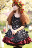 Country Lolita Flowers Cotton Dress3 Colors