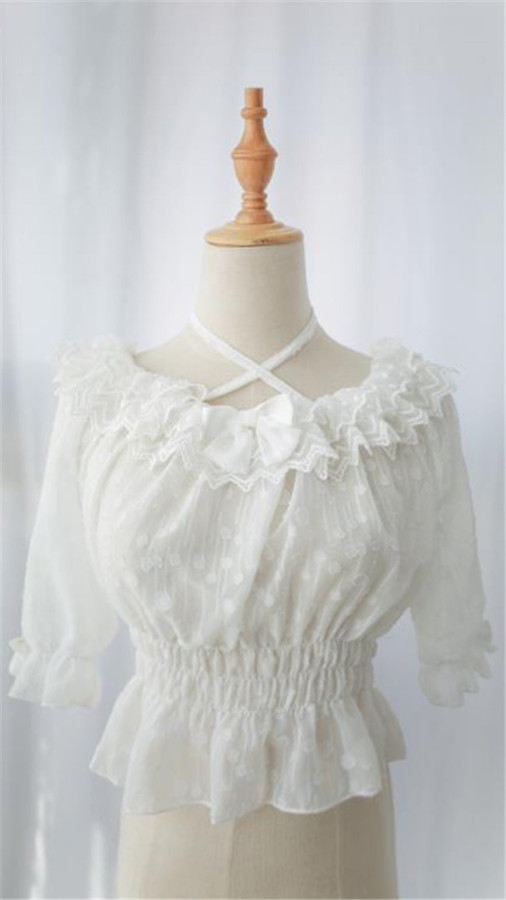 Neverland Lolita ~Dessert Lace Lolita Blouse -Ready MADE
