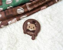 Chocolate Bear~ Lolita Badge Brooch -Pre order