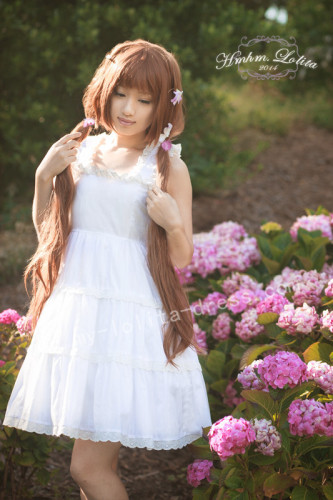 Sweet White Lolita Jumper Dress for Summer