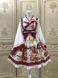 Alice Girl ~Lucky Cat~ Kimono Style Lolita JSK -Pre-order Dark Blue Size L + Hairclip - In Stock