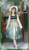 Pine Trees Forest Morning Vintage Lolita Dress-Ready Made