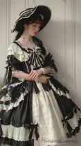 HinanaQueena ~Feast of Platinum~ Elegant Vintage Lolita OP -Ready Made