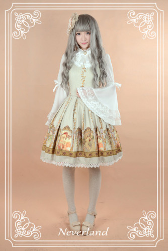 Neverland Chiffon Hime Sleeves Blouse White S&Wine M - In stock