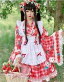 Diamond Honey ~Cherries Strawberry Lolita Set