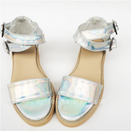 Sweet Glitter Silver Lolita Sandals