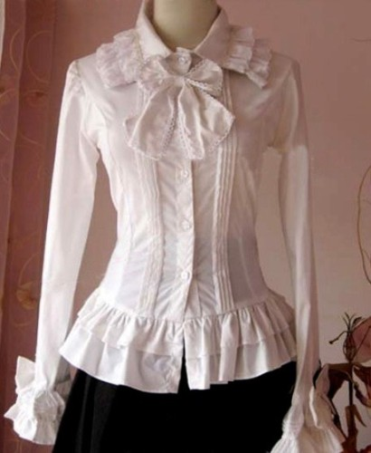 Sweet Bows Ruffles Lolita Long Sleeves Shirt