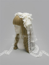 Sweet Dreamer~Destiny Apocalypse~Vingtage Lolita Headdress+Veil+Necklace Set Bridal