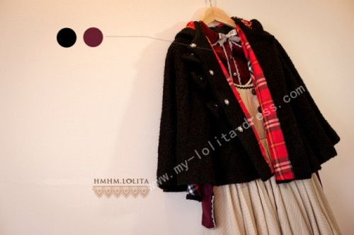 Brown Bunny&Ponny Wool Lolita Cape