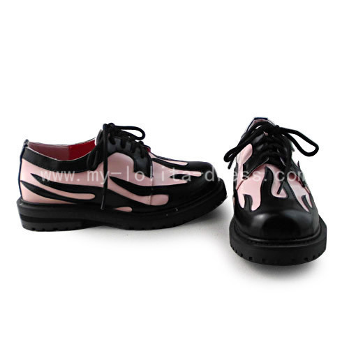 Pink with Black Gothic Shoes