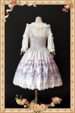 Maid's room~ Sweet Printed JSK Dress+Headbow -Ready In Stock