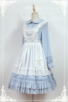 Rosemarie~ Solid Color Lolita Long Sleeves OP Dress