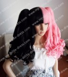 Black Pink Double Colored Wigs