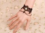 Attractive Black Lace Retro Lolita Bracelet Lolita Bracelet-out