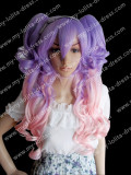 New Style Babydoll Lavender Pink 2 Tone Lolita Wig