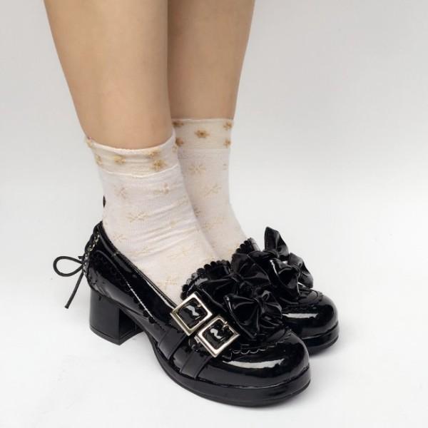 Sweet Coffee Velvet Lolita Heels Shoes