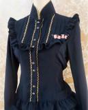 Silk Linen Golden Lace Lolita Shirt 11 Colors