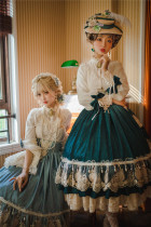 Miss Point ~ Elizabeth~ Elegant Lolita Fishbone Skirt Tea Party Version -Custom Tailor Available