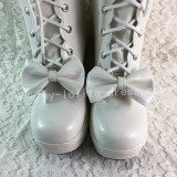 Antaina Double Side Bow Straps Lolita Boots