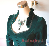 Surface Spell Judgement Day Embroidery Gothic Lolita OP Dress