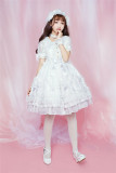 The Crescent Moon And The Sea~ Sweet Babydoll Style Lolita OP Dress Ready Made