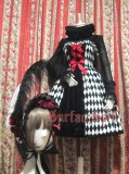 Surface Spell Illusion Realizer Gingham Ostrich Feather Lolita Bonnet
