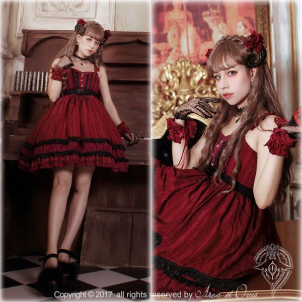 Little Deamon~  Vintage Lolita Corset JSK Dress