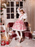 Strawberry Bunny~ Lolita Printed Salopette
