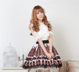Sweet Chocolates Printed Lolita Pleated Skirt