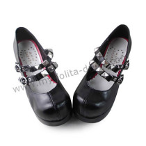Antaina Punk Style Silver Belts Lolita Shoes