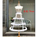 Fishbones Lolita Petticoat Shape/Length Adjustable -Multiple Uses