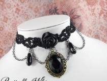Goth Fashionable Lace Pendant Lolita Necklace