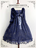 The Whisper of Stars~ Gold Stamping Constellation Lolita OP -Pre-order