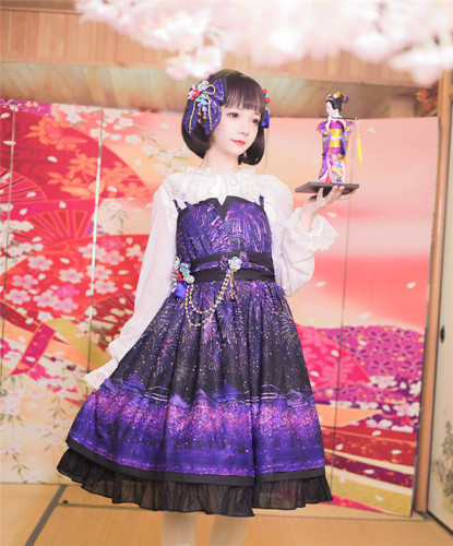 Sakura Firework~ Lolita JSK - Purple Size M - In Stock
