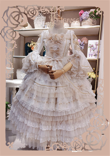 Elpress L ~West Island~ Elegant Lolita OP Dress - Beige Size XL In Stock