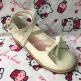 Girl's Sweet White Lolita Low Heels Shoes