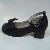 Black PU Bow Lolita Shoes