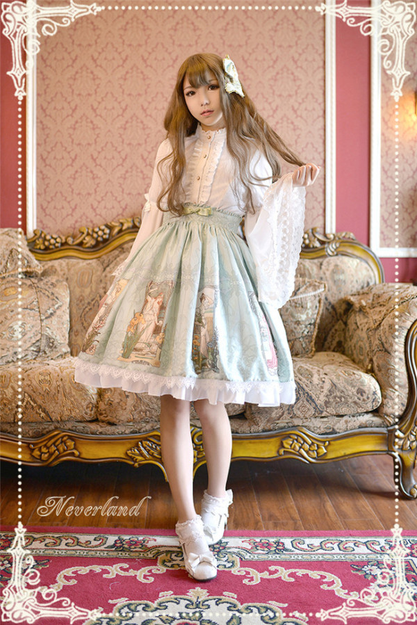Neverland Lolita -Maiden in May- Lolita Normal Waist Skirt