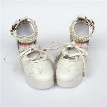 Sweet Beadchain Stars Lolita High Platform Shoes
